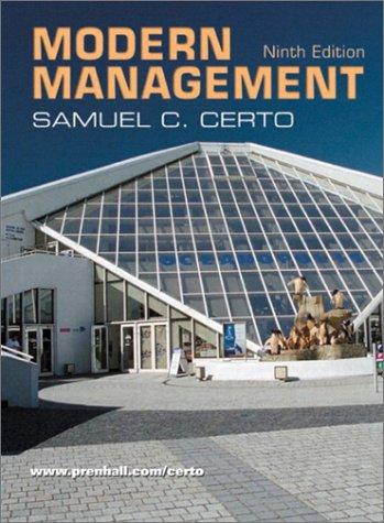 9780130670892: Modern Management: United States Edition