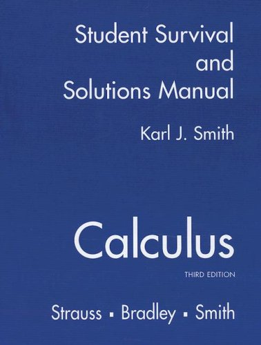 9780130672452: student Solutions Manual for Calculus