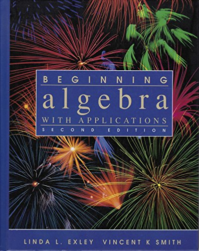 9780130672575: Beginning Algebra with Applications