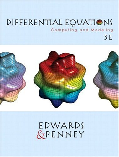 9780130673374: Differential Equations: Computing and Modeling (3rd Edition)