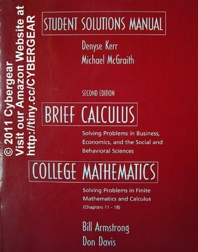 9780130674135: BRIEF CALCULUS WITH APPLICATIONS