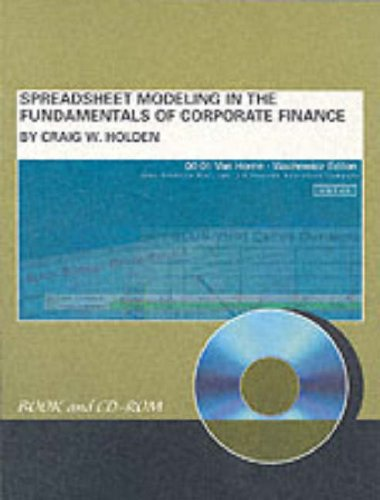 9780130674203: Spreadsheet Modeling in the Fundamentals of Corporate Finance