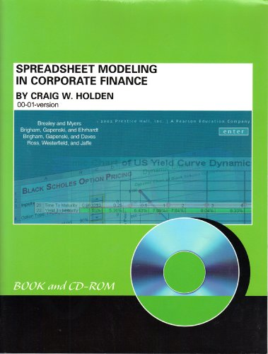 9780130675231: Spreadsheet Modeling in Corporate Finance (With CD-ROM)