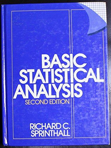 9780130677037: Basic Statistical Analysis