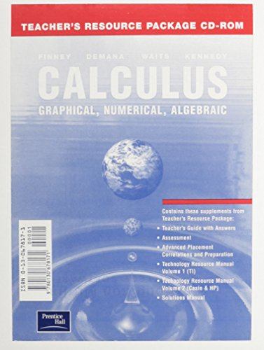 9780130678171: CALCULUS: GRAPHICAL, NUMERICAL AND ALGEBRAIC 2ND EDITION TEACHER'S RESOURCE PACKAGE CD-ROM 2003C