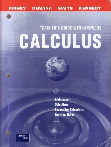 9780130678188: Calculus: graphical, numerical, algebraic, Teacher's resource Package