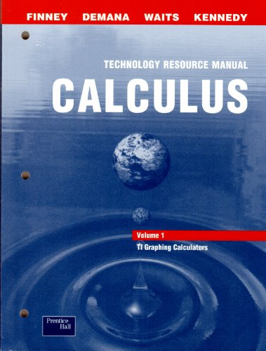 9780130678225: 1: Calculus Technology Resource Manual: Ti Graphing Calculators
