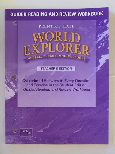 9780130679741: World Explorer: People, Places, and Cultures: Teacher's Edition, Guided Reading and Review Workbook Isbn 0130679747 9780130679741