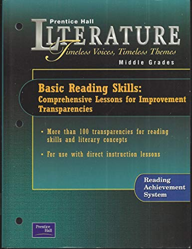 9780130679918: Basic Reading Skills: Comprehensive Lessons for Improvement Transparencies (Prentice Hall Literature