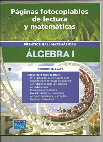 9780130686312: Prentice Hall Matematicas Algebra 1 Paginas Fotocopiables De Lectura y Matematicas
