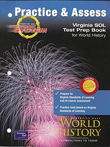 9780130687449: Practice & Assess Virginia SOL Test Prep Book for World History
