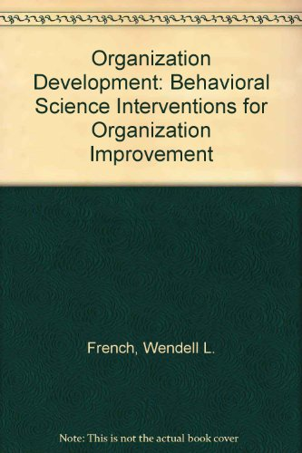 9780130697752: Organization Development: Behavioral Science Interventions for Organization Improvement