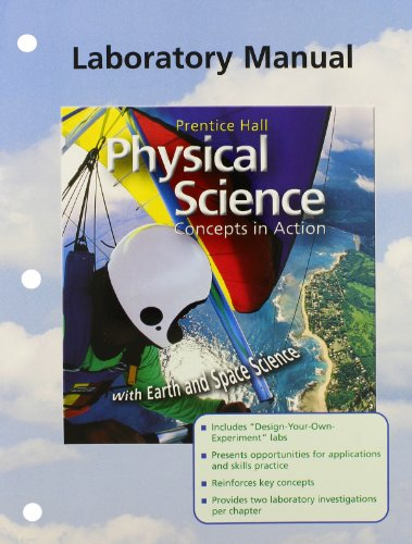 9780130699756: Physical Science: Concepts in Action, Laboratory Manual