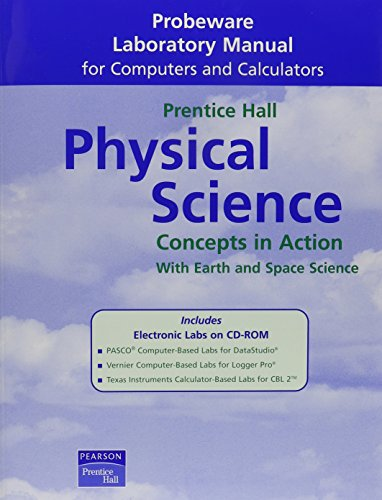 9780130699763: HIGH SCHOOL PHYSICAL PROBEWARE LAB MANUAL WITH CD 2004C