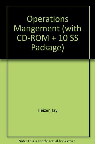 Operations Mangement (with CD-ROM + 10 SS Package) (0130715085) by Heizer, Jay; Render, Barry