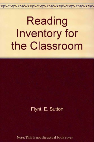 9780130721068: Reading Inventory for Classroom Cassette Pkg. (4th Edition)