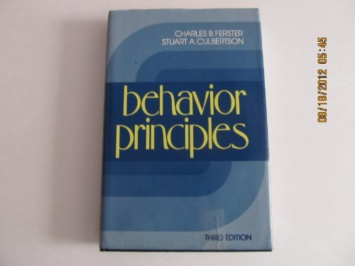 9780130725202: Behavior Principles