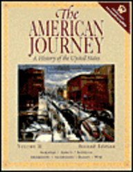 9780130725868: The American Journey: A History Of The United States Volume Ii (with Web Password & Mapping American History Cd-rom)
