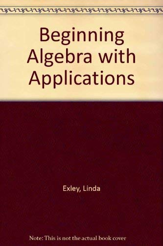 9780130725882: Beginning Algebra with Applications Student Solutions Manual