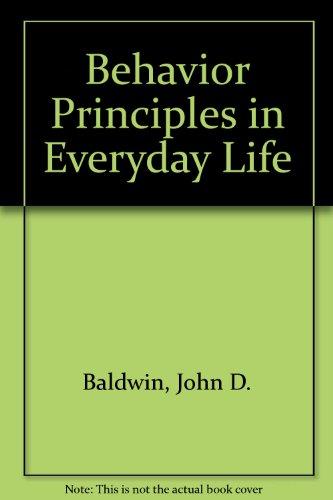 9780130727510: Behavior Principles in Everyday Life