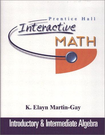 9780130727541: Prentice Hall Interactive Math Introductory and Intermediate Algebra Student Package
