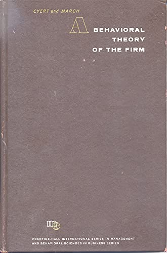 9780130733047: Behavioral Theory of the Firm