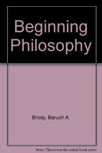 9780130738820: Beginning Philosophy