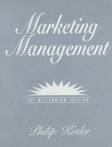 9780130739537: Marketing Management (Prentice Hall International Series in Marketing)