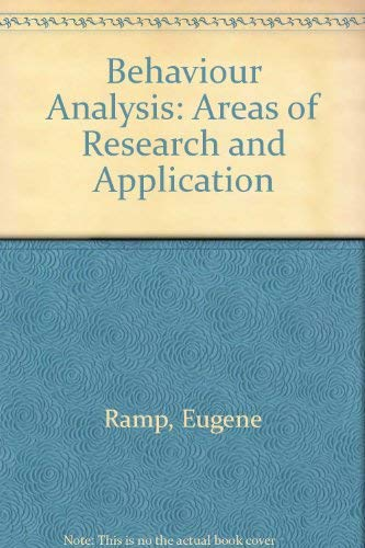 9780130741950: Behaviour Analysis: Areas of Research and Application