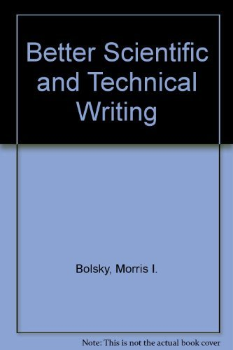 9780130742537: Better Scientific and Technical Writing