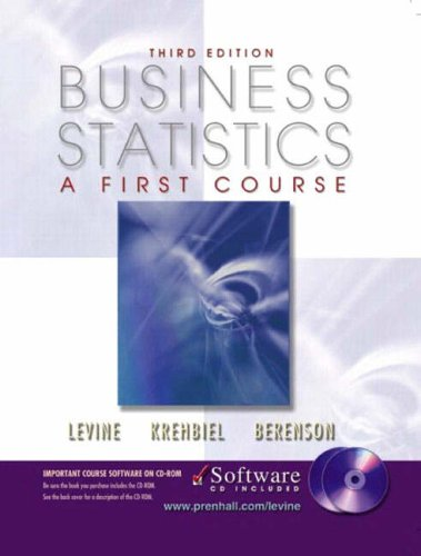 9780130782014: Business Statistics: A First Course and CD-ROM, Third Edition