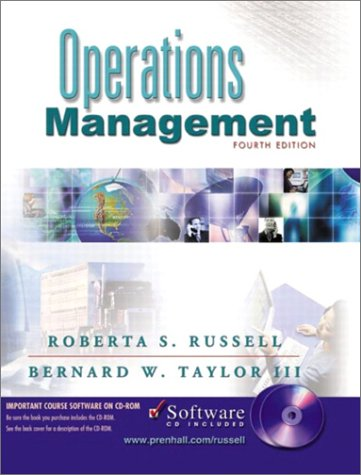 9780130782250: Operations Management and Student CD, Fourth Edition