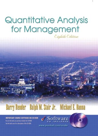9780130783868: Quantitative Analysis for Management and Student CD-ROM, Eighth Edition