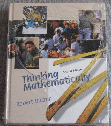 9780130787941: Thinking Mathematically + Student Solutions Manual Package (2nd Edition)