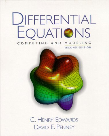 9780130797797: Differential Equations: Computing and Modeling (2nd Edition)
