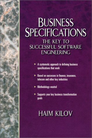 9780130798442: Business Specifications: The Key to Successful Software Engineering