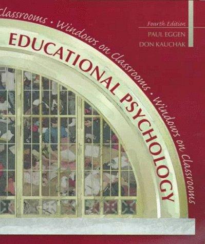 9780130800916: Educational Psychology: Windows on Classrooms