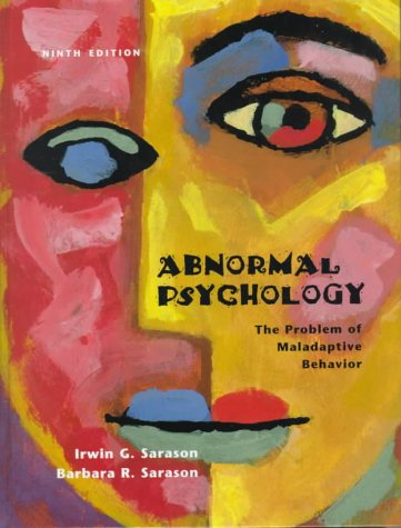 9780130801869: Abnormal Psychology: The Problem of Maladaptive Behaviour