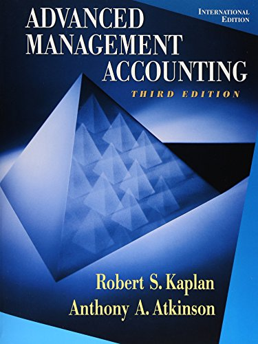 9780130802200: Advanced Management Accounting (International Edition)