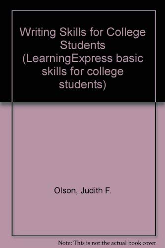 9780130802569: Writing Skills for College Students (Learningexpress Basic Skills for College Students)