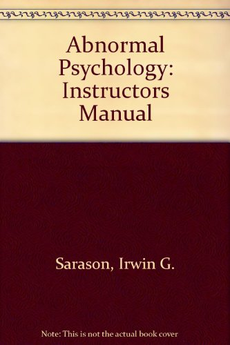 9780130804433: Abnormal Psychology: Instructors Manual