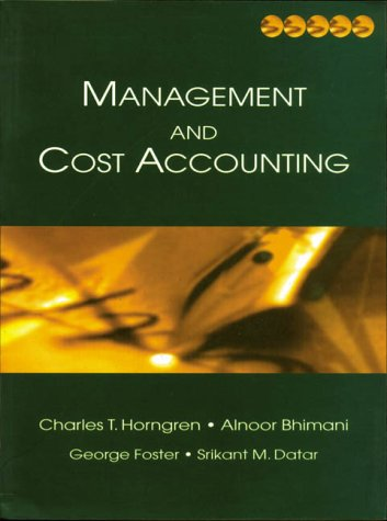 9780130805478: Management and Cost Accounting