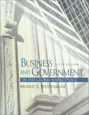 9780130806253: Business and Government in the Global Marketplace (6th Edition)