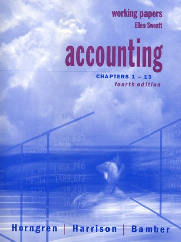 9780130807809: Accounting: Chapters 1-13 : Working Papers