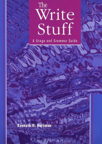 9780130808257: The Write Stuff: A Usage and Grammar Guide