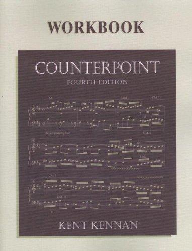 9780130810526: Counterpoint Workbook