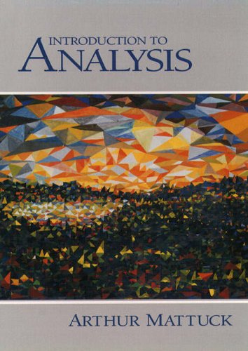 9780130811325: Introduction to Analysis