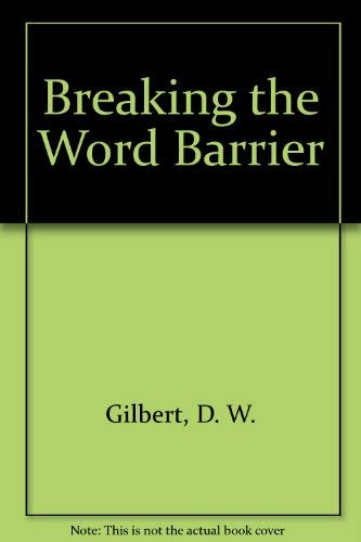 9780130816610: Breaking the Word Barrier