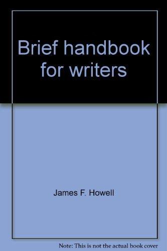 9780130820259: Brief handbook for writers