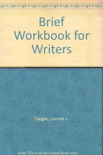 9780130820662: Brief Workbook for Writers